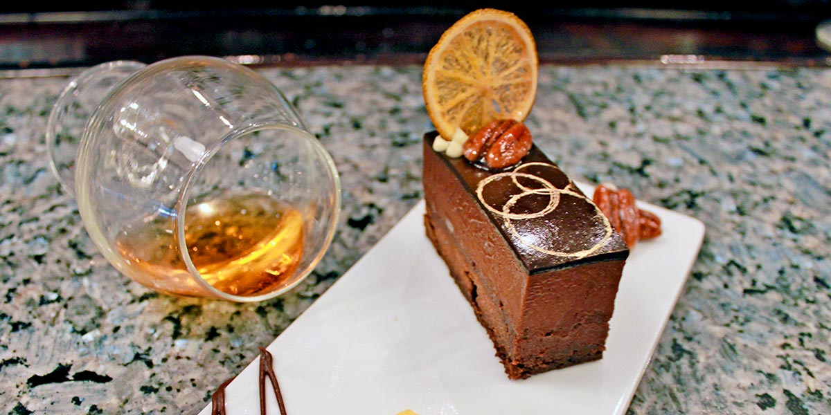 Chocolate Citrus Pecan Entremet Bars